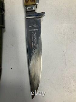 Vintage Puma Werk Game Keepers Knife 3591 Sheath And Box Antler UsedToolShopCom