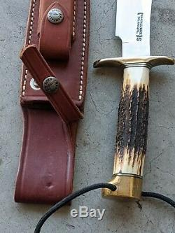Vintage Randall Stag Hunting Knife 12. 6 pristine blade never used never sharpen