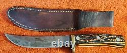 Vintage Schrade Walden, Uncle Henry, 165 UH, # 16895, Hunting Knife With Sheath