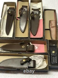 Vintage Smith & Wesson Blackie Collins Original 7 Piece Knife Collection