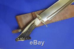Vintage U. S. A Custom Hand Made JAMES B. JIMMY LILE, XXX-Large Bowie Knife