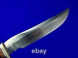 Vintage US Custom Handmade RANDALL Low S Stamped Hunting Knife & Sheath Stone