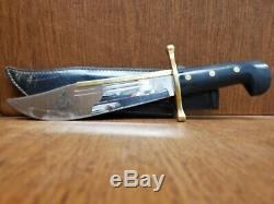 Vintage USA Case XX 1836 Davy Crockett Bowie Fixed Blade Hunting Knife with Sheath
