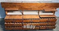 Vintage Very Large Case Knife Display Case / Cabinet, with large storage area