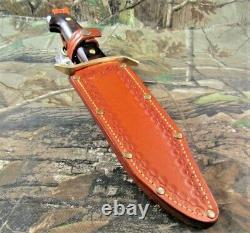 Vintage Western USA W-49 Fixed Blade Knife WithCustom Made Dangler Sheath #P-27