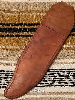 Vintage Western USA W49/V44 Lmt. Ed. Lugged Guard Survival Bowie knife WithSheath