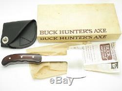 Vtg 1988 Buck USA 106 Hunters Axe Fixed Blade Hunting Camp Hatchet Knife In Box