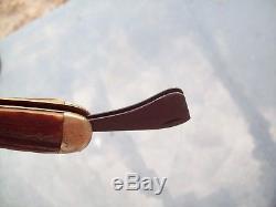 Vtg MARBLES Safety Hunting Knife, Stag handle original unrestored