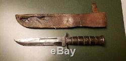 Vtg Sheath Hunt 7 Blade USMC/CAMILLUS NY WW2 MK2 Knife 1 ORIG leather fold case