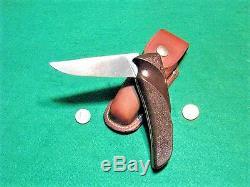 Vtg Sheath Hunt Blade High Speed Usa GERBER FFH Knife Orig #1 Handle fold case