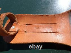 Vtg Solingen German Stag Bowie Knife Edge Mark Brand Hunting Leather Sheath