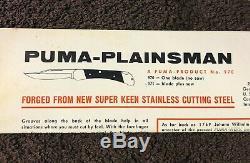 Vtg Used Puma White Hunter 6399 Fixed Blade Hunting Knife-leather Sheath-in Box
