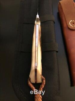 W. C. Davis Custom Stag Drop Hunter Knife-sheath-loveless Design