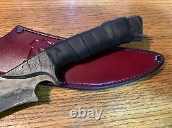 Zombie Tools SCYLLIS Knife 9 5160 Steel Blade ZT Warlander Leather Sheath